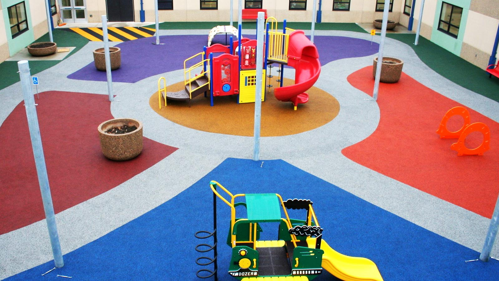 ecoturf surfacing kck early childhood education poured in place surfacing installation