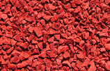 Bright Red poured in place surfacing color option