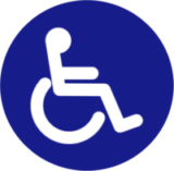 ASTM wheelchair accessible logo