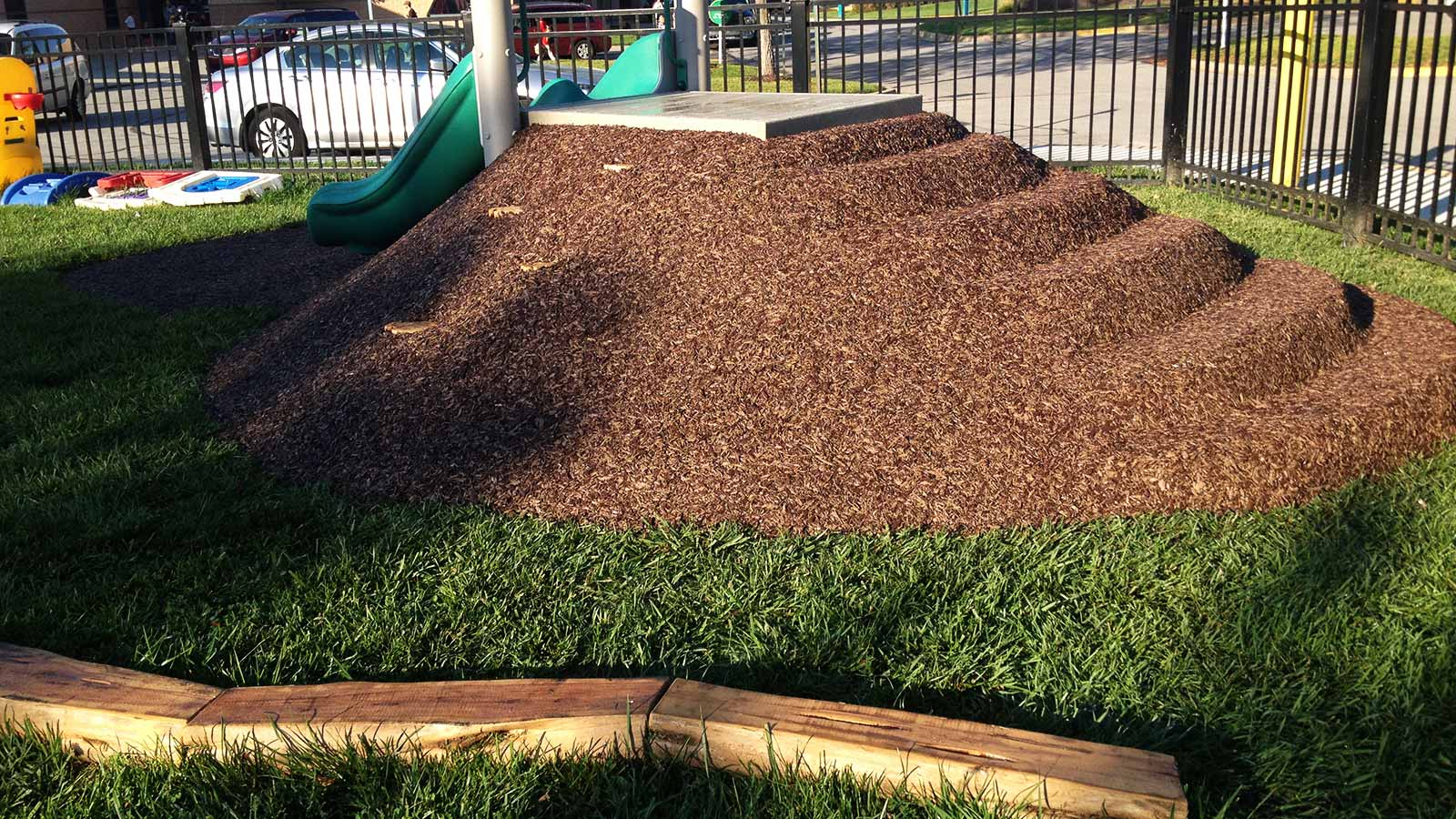 Ecoturf Surfacing Taylormade Co products Bonded Rubber Mulch creative steps design